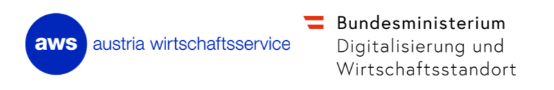 Aws logo und Bundesministerium Digitalisierung und Wirtschaftsstandort